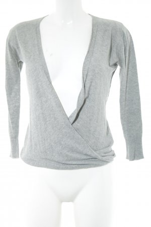 DAY V-Neck Sweater light grey casual look