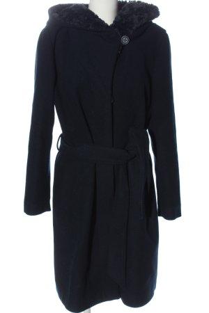 Daybreak Hooded Coat blue casual look