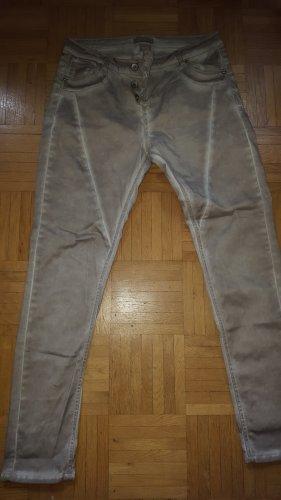 Daysie Biker Jeans cream-light brown cotton