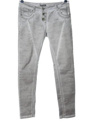 Daysie Pantalon cinq poches gris clair style décontracté