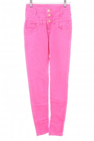 Daysie High Waist Trousers pink Logo application