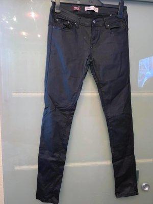 Daysie Pantalon en cuir noir cuir
