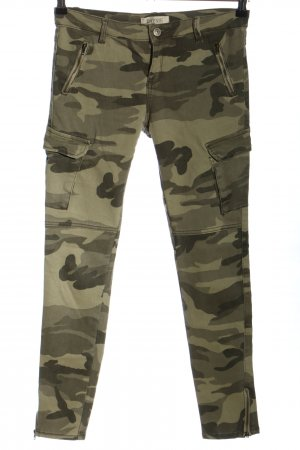 Daysie Slim Jeans khaki camouflage pattern casual look