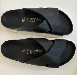 Birkenstock Platform Sandals black-white