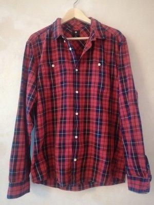DC Long Sleeve Shirt dark blue-red