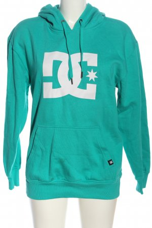 DC Hooded Sweatshirt turquoise-white themed print casual look