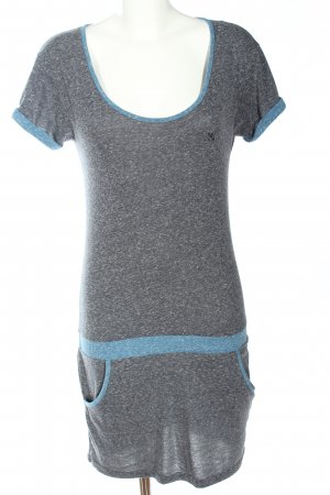 DC Shortsleeve Dress light grey-blue flecked casual look