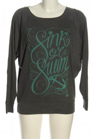DC Crewneck Sweater light grey-turquoise flecked casual look