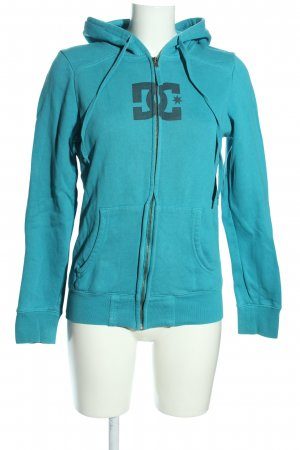 DC Shoes Sweatjacke türkis Motivdruck Casual-Look