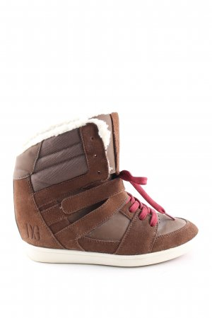 DC Shoes Wedge Sneaker brown-natural white casual look