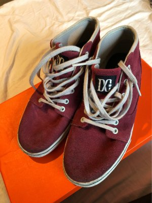 DC Skater Shoes magenta-silver-colored