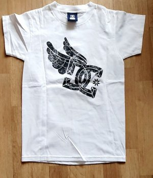 DC Skatewear Shirt flying Wings Print Shirt weiss Gr XS 34