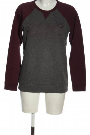 DC Sweat Shirt light grey-black printed lettering elegant