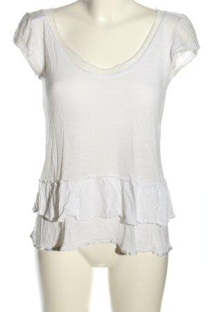Ddp T-shirt bianco stile casual