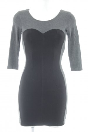 de.corp by Esprit Abendkleid grau-schwarz Business-Look