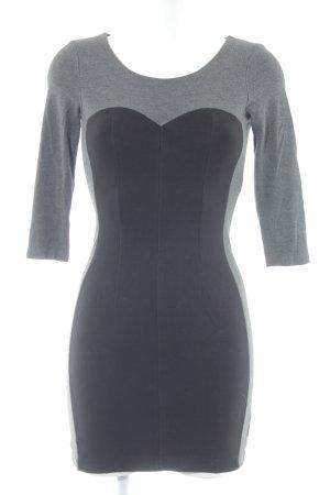de.corp by Esprit Abendkleid grau-schwarz Business-Look