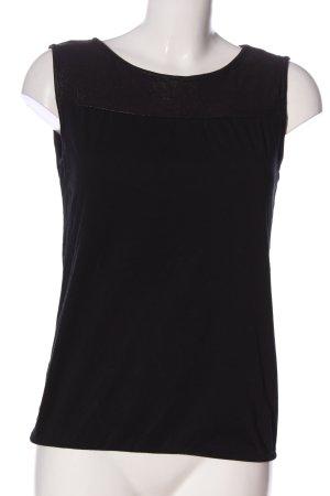 de.corp by Esprit ärmellose Bluse schwarz Casual-Look