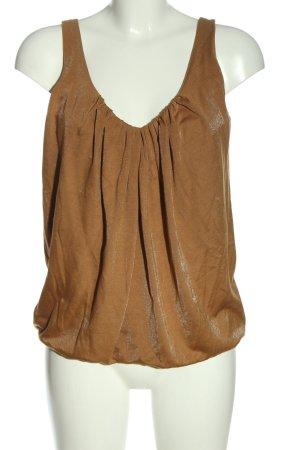 de.corp by Esprit ärmellose Bluse bronzefarben Casual-Look