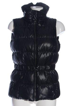 de.corp by Esprit Puchowa kamizelka czarny Pikowany wzór W stylu casual