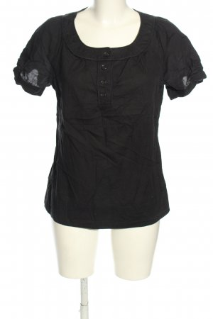 de.corp by Esprit Kurzarm-Bluse schwarz Business-Look