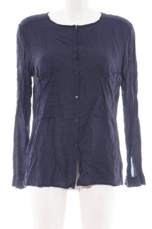 de.corp by Esprit Langarm-Bluse blau Casual-Look