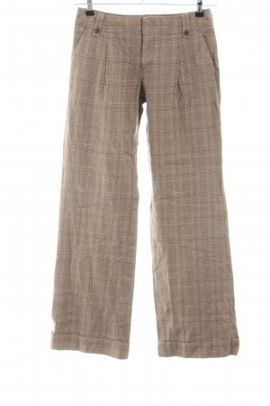 de.corp by Esprit Marlene Trousers brown-nude check pattern casual look