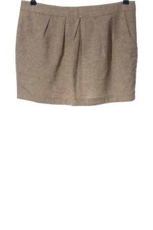 de.corp by Esprit Mini-jupe blanc cassé Motif de tissage style décontracté