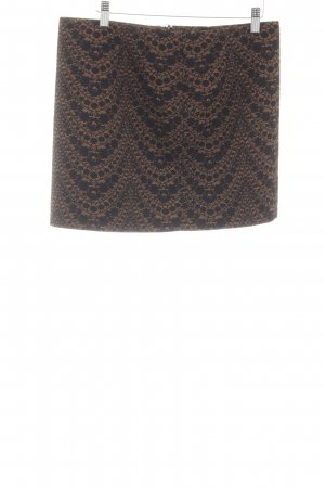 de.corp by Esprit Miniskirt brown-black abstract pattern business style