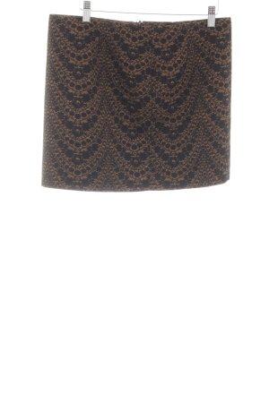 de.corp by Esprit Minirock braun-schwarz Blumenmuster klassischer Stil