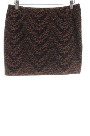 de.corp by Esprit Mini-jupe noir-brun motif de fleur style festif
