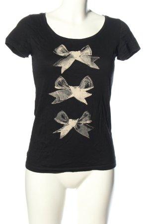 de.corp by Esprit Print-Shirt schwarz-wollweiß Motivdruck Casual-Look