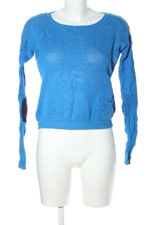 de.corp by Esprit Rundhalspullover blau Casual-Look