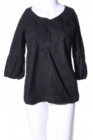 de.corp by Esprit Schlupf-Bluse schwarz Business-Look