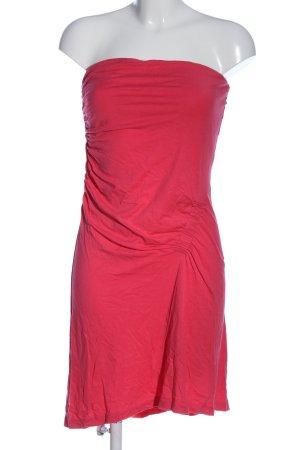 de.corp by Esprit schulterfreies Kleid pink Casual-Look
