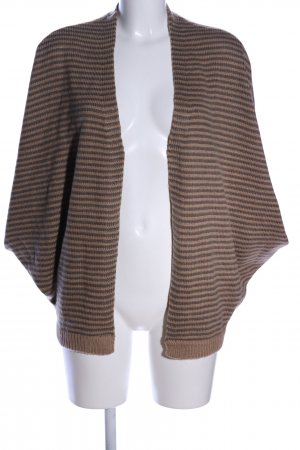 de.corp by Esprit Knitted Cardigan bronze-colored-nude striped pattern
