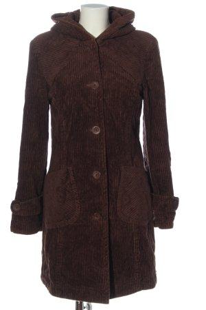 De Facto Manteau à capuche brun motif rayé style décontracté