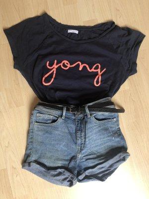 De Yong Shirt T-Shirt dunkelblau neon neonorange