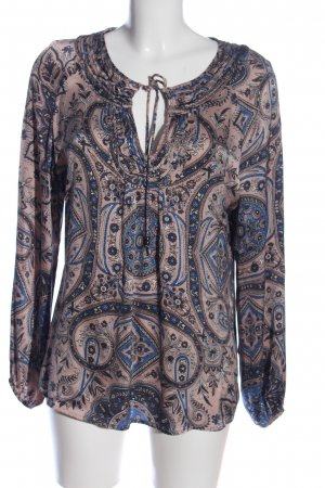 Dea Kudibal Langarm-Bluse abstraktes Muster Casual-Look