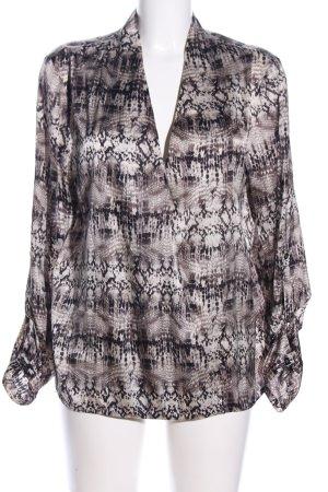 Dea Kudibal Langarm-Bluse abstraktes Muster Business-Look