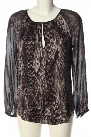 Dea Kudibal Long Sleeve Blouse brown abstract pattern business style