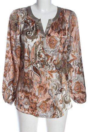Dea Kudibal Langarm-Bluse abstraktes Muster Elegant