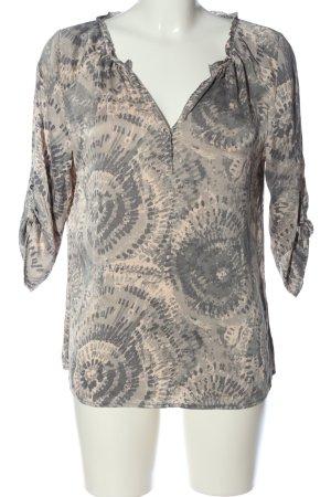 Dea Kudibal Silk Blouse natural white-light grey abstract pattern casual look