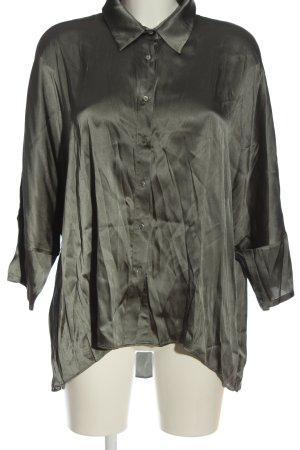 Dea Kudibal Jedwabna bluzka khaki W stylu biznesowym