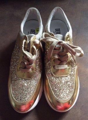 Deabused Sneaker Gr 40 Gold/ Glitzer neu