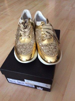 Deabused Sneakers met hak wit-goud