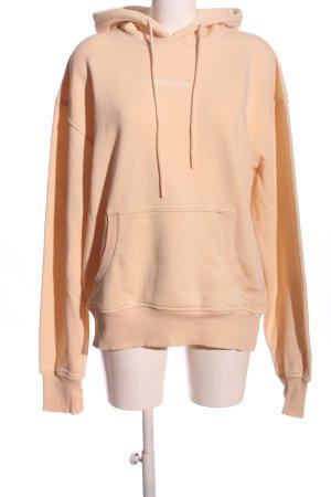 dead stock Hooded Sweatshirt nude printed lettering casual look