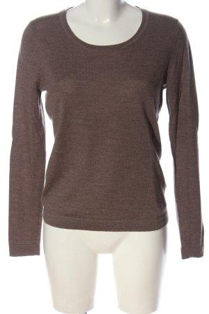 Deane & White Pull en laine brun moucheté style décontracté