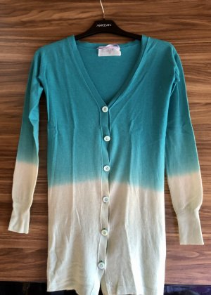 Dear Cashmere Knitted Cardigan turquoise-lime-green