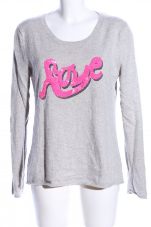 Dear Cashmere Cashmere Jumper light grey-pink flecked casual look
