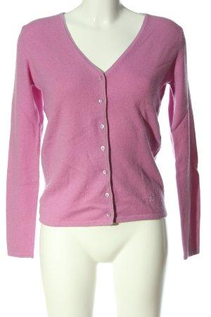 Dear Cashmere Cashmerepullover pink Schriftzug gestickt Casual-Look